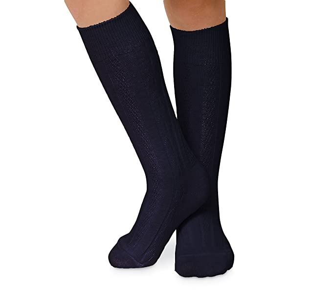 3f81c4b2776 Jefferies Socks Womens Cable Knit Knee High Socks 3 Pair Pack (Sock 9-11 Shoe 6-9