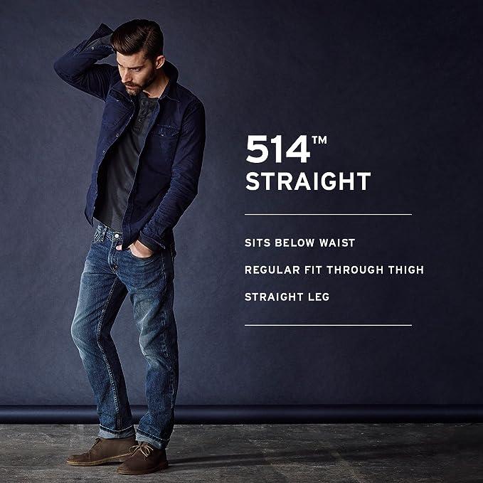 Levi S 514 Straight Jeans Para Hombre Amazon Com Mx Ropa Zapatos Y Accesorios
