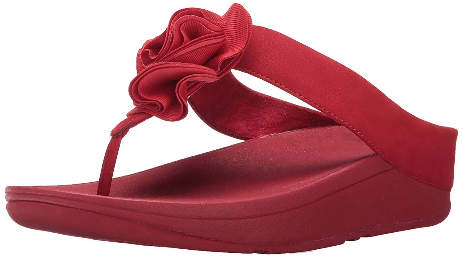ec47ab45abe4 FitFlop Florrie Sandals Toe Post Classic Red  Amazon.co.uk  Shoes   Bags