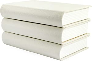 AuldHome Faux Book Stack: Blank Set of 3 Decorative Books for DIY Crafts and Home Decor