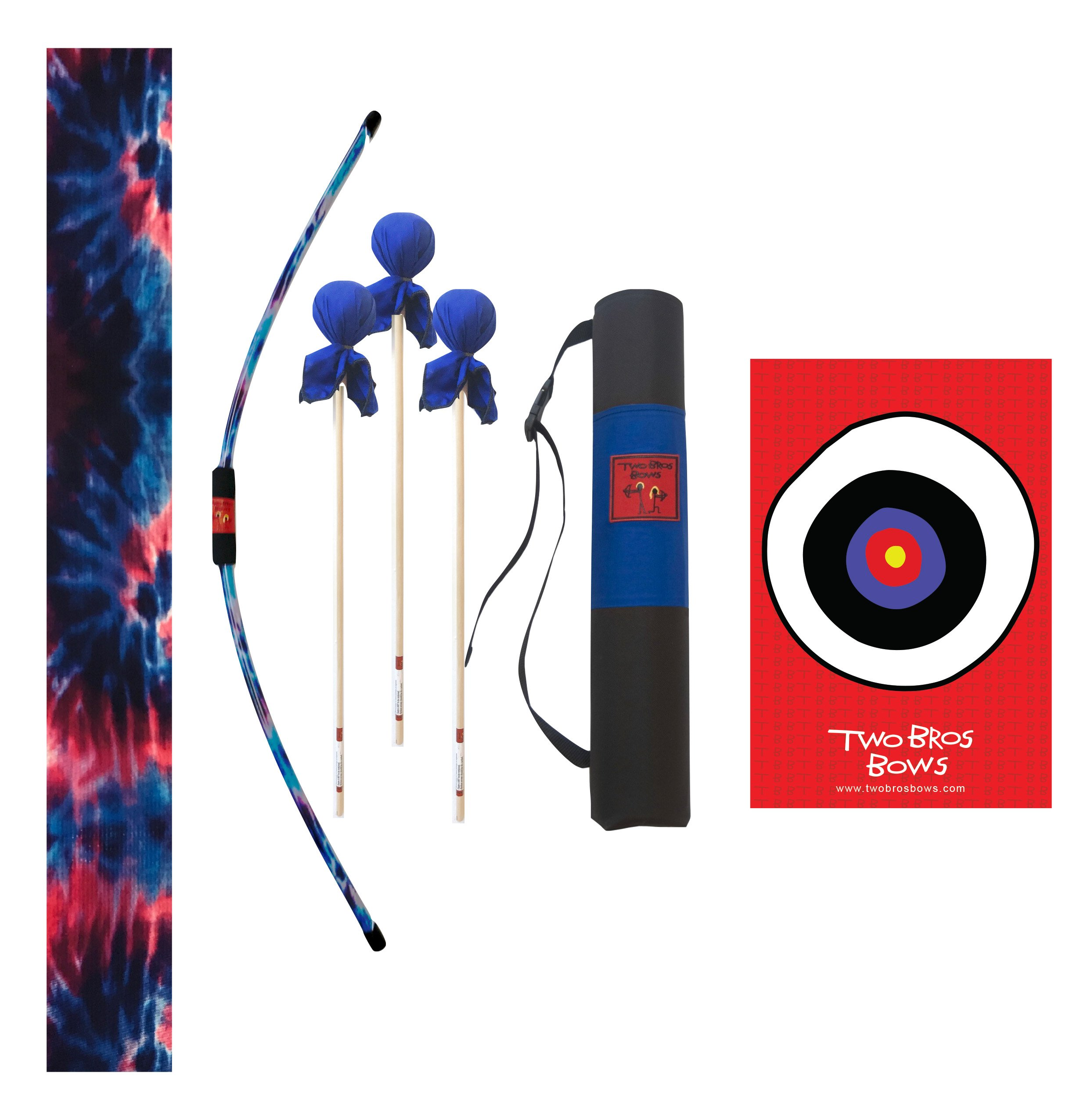 Two Bros Bows Blue Tie-Dye Archery Combo Set by Two Bros Bows, LLC