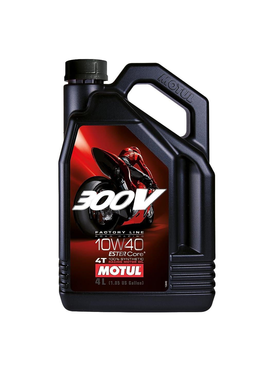 MOTUL (モチュール) 300V 4T Factory Line ROAD RACING (ファクトリーラインロードレーシング) 10W40 100%化学合成 (エステルコア) バイク用エンジンオイル 4L (並行輸入品) 104119 B00C714MIG