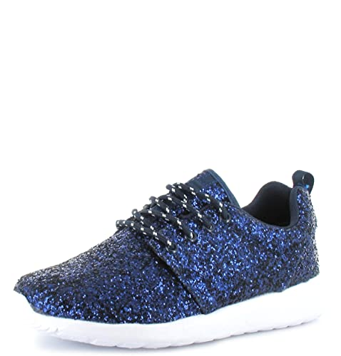 SHUMAD Sneaker Donna Nero nero Taglia 36-42 EU, Nero (Gold), 37