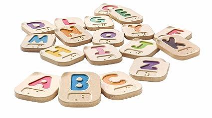 amazon com plan toys braille alphabet a z toys games