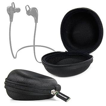 DURAGADGET Funda Negra Para Auriculares JBL Reflect Mini BT, Emihi M5 - ¡Perfecto Para