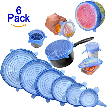 Amazoncom Kuke Silicone Stretch Lids 6 Pcs Multi Size Reusable