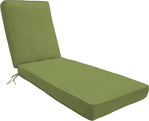 Eddie Bauer Home Chaise Double Piped 23 W x 75 L x 2.5 H, Spectrum Cilantro