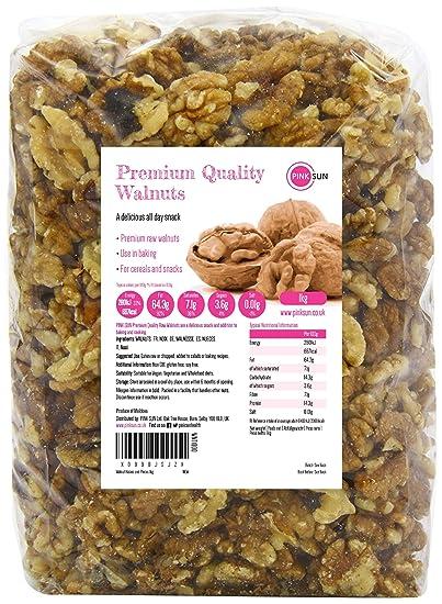Nueces 1kg Mitades y Pedazos No tostado Sin Sal Natura
