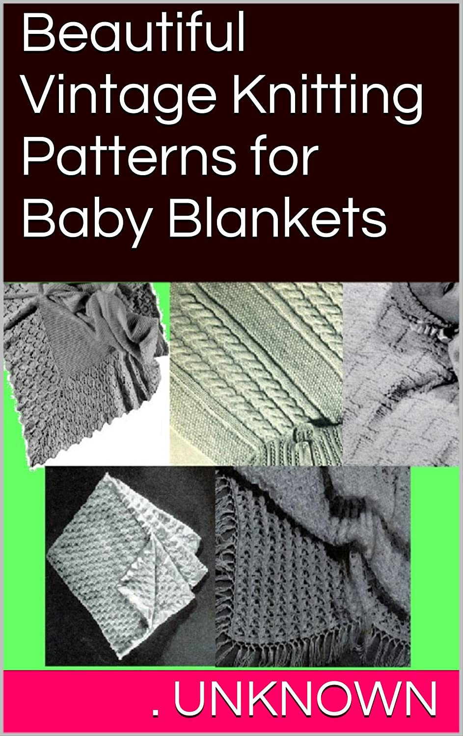 Knit Baby Block Cover Afghan Pattern - Knitting Pattern to Download - Kindle Knitting Patterns