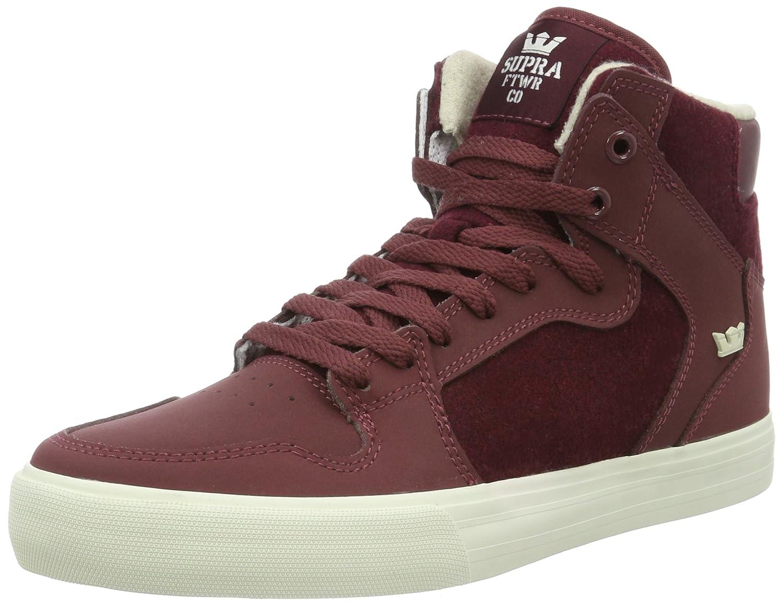 Supra Vaider LC Sneaker Medium / 11.5 C/D US Women / 10 D(M) US Men|Burgundy-white