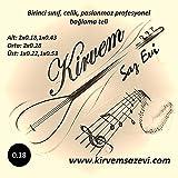 3 er Set Professionell Paslanmaz Celik/Rostfrei 0,18 Kisa Sap Baglama Saz Teli/Saiten für türkisches Saz Instrument