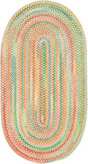 product image for Capel Rugs Baby's Breath 1 x 2 Oval Braided Area Rug (Light Yellow)