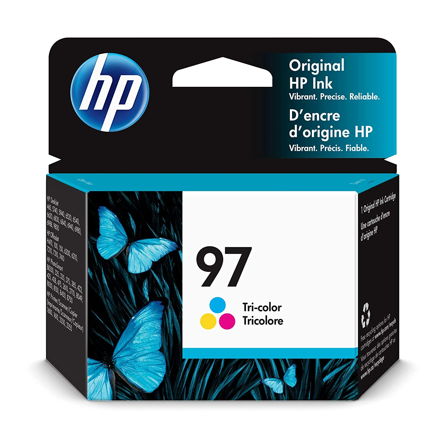 HP 97 Tri-color Ink Cartridge (C9363WN) for HP Deskjet 460 6830 6840 6940 6988 9800 HP Officejet 100 150 H470 7210 7310 7410 HP Photosmart 335 375 385 422 425 428 475 2575 8049 8050 8150 8450 8750