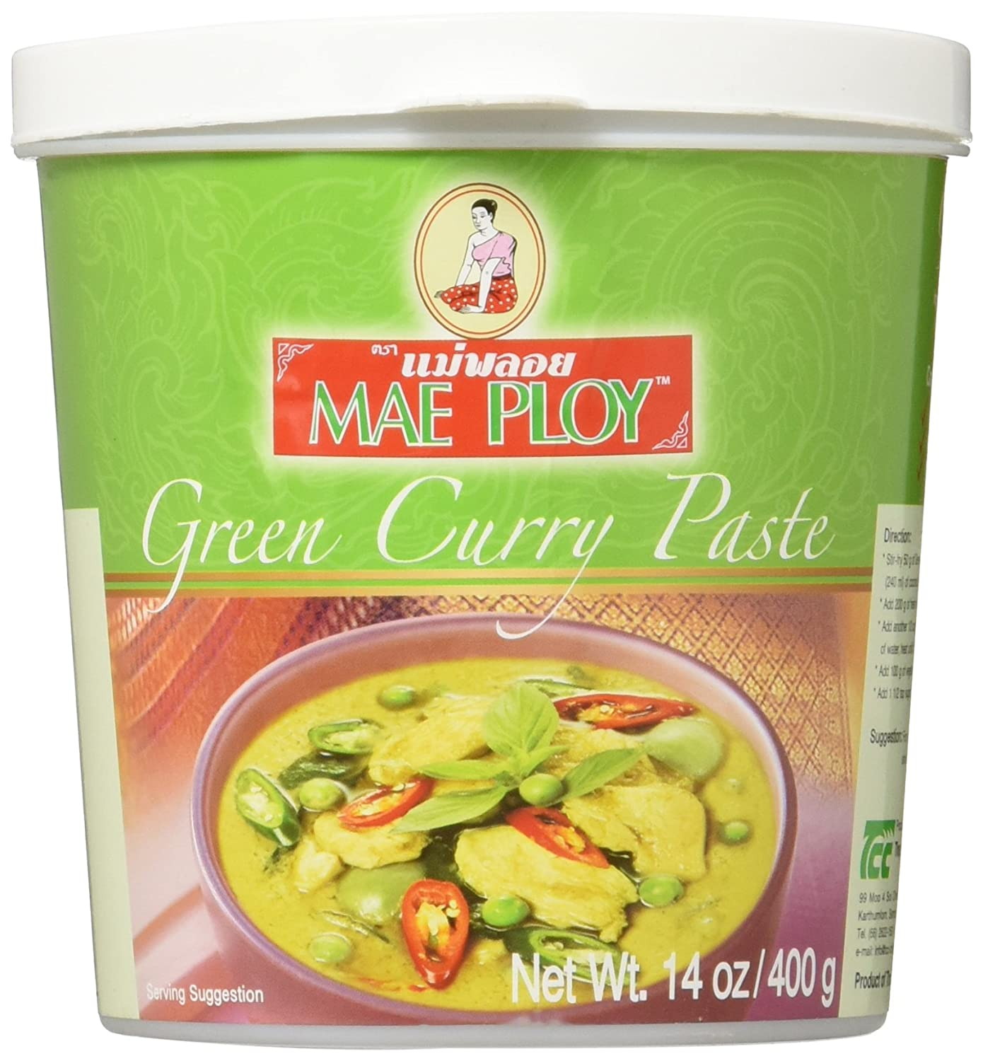 Amazon.com : Mae Ploy Green Curry Paste, 14 oz : Grocery & Gourmet Food