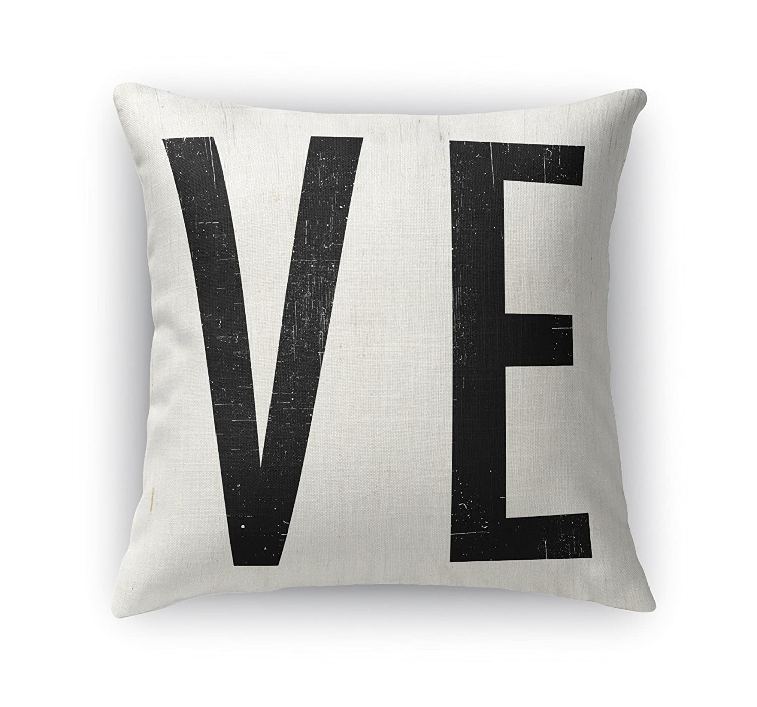 Size: 24X24X6 - - TRADITIONS Collection Black//Ivory TELAVC8174DI24 KAVKA Designs Ve Accent Pillow,