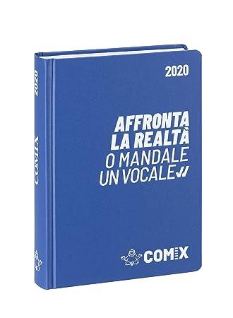 COMIX 60899I - Agenda (16 m), color azul y blanco: Amazon.es ...