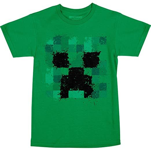 Amazon Com Jinx Minecraft Big Boys Splatter Creeper T Shirt Clothing