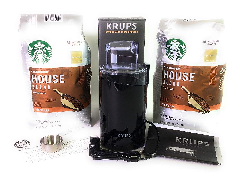 ★大人気商品★ Starbucks(スターバックス) House Oz Blend Whole Bean Coffee Bags, Coffee 2 40 Oz Bags, Krups Coffee Grinder Bundle B07NP3ZNK5, オオヒラマチ:3cd75a52 --- svecha37.ru