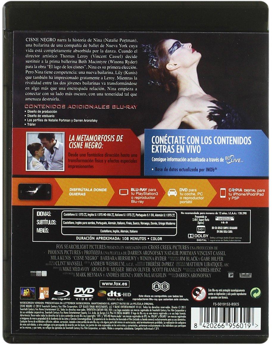 Amazon.com: Cisne Negro (Dvd + Br + Copia Digital) (Blu-Ray) (Import Movie) (European Format - Zone B2) (2010) Christopher: Movies & TV