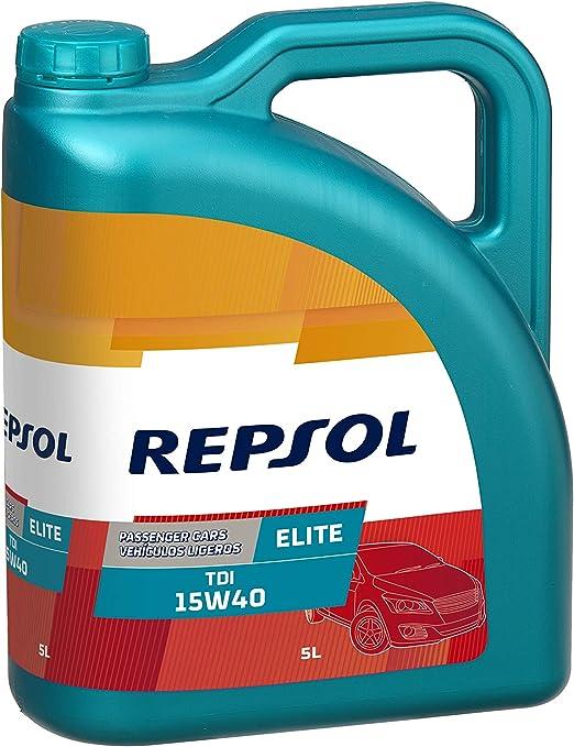 Repsol RP135Y55 Elite Tdi 15W40 15W-40 Aceite de Motor para Coche, 5 L: Amazon.es: Coche y moto