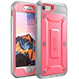 iPhone 7 Case, SUPCASE Full-body Rugged Holster Case with Built-in Screen Protector for Apple iPhone 7 (2016 Release), Unicorn Beetle PRO Series - Retail Package (Pink/gray)