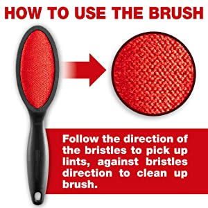Lint Brush 2-Pack Fabric and Clothes Cleaner Pet Hair Dust Remover