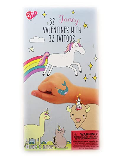Amazon Com 32 Magical Unicorn Trendy Valentine Day Sharing Cards