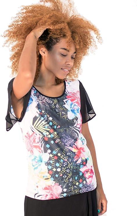 Smash! Camiseta Veraniega con Estampado Tropical y Animal ...