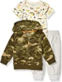 Amazon Essentials 3-Piece Microfleece Hoodie Set Unisex bebé