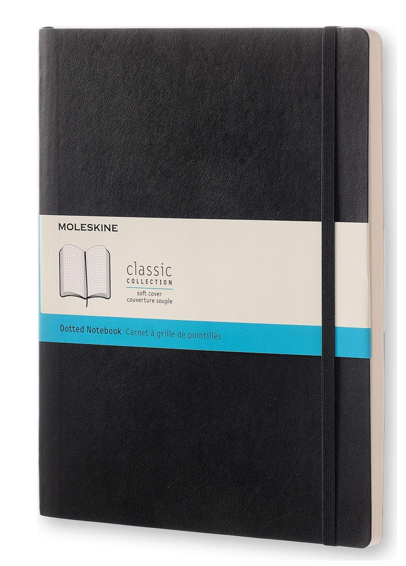 Moleskine Classic Notebook, Soft Cover, XL (7.5'' x 9.5'') Dotted, Black by Moleskine
