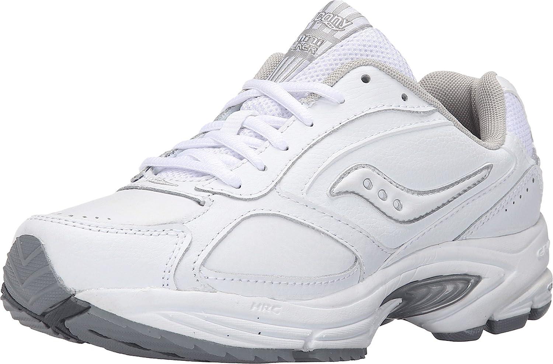 Saucony Omni Walker - Zapatillas de tenis de cuero para mujer blanco Wht/Sil 41.5