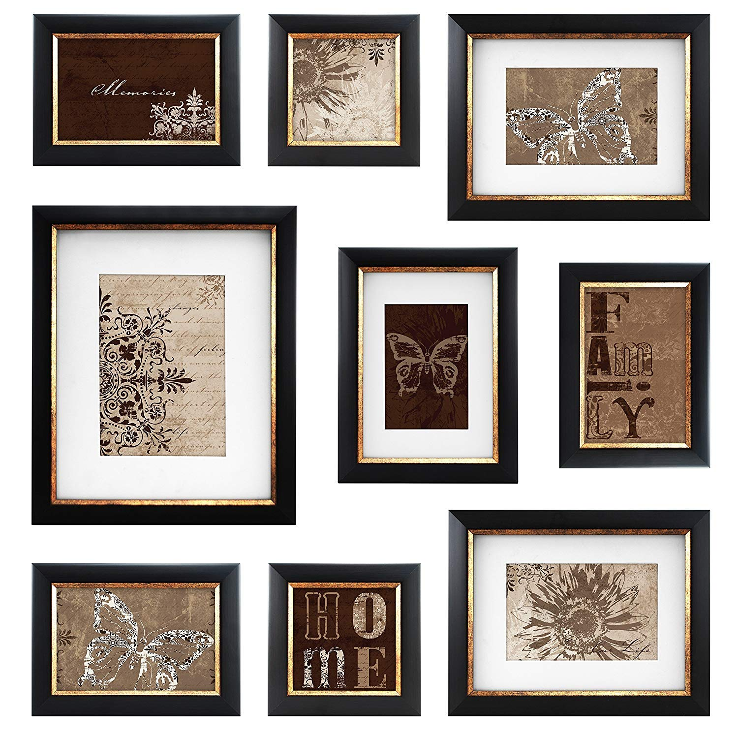 MCS 9 Piece with Usable Artwork Frame Set, Bronze Finish by MCS