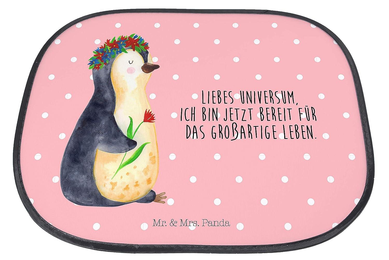 Auto Sonnenschutz Pinguin Blumenkranz mit Spruch /& Mrs R/ücksitz Panda Geschenk Farbe Blau Pastell Mr