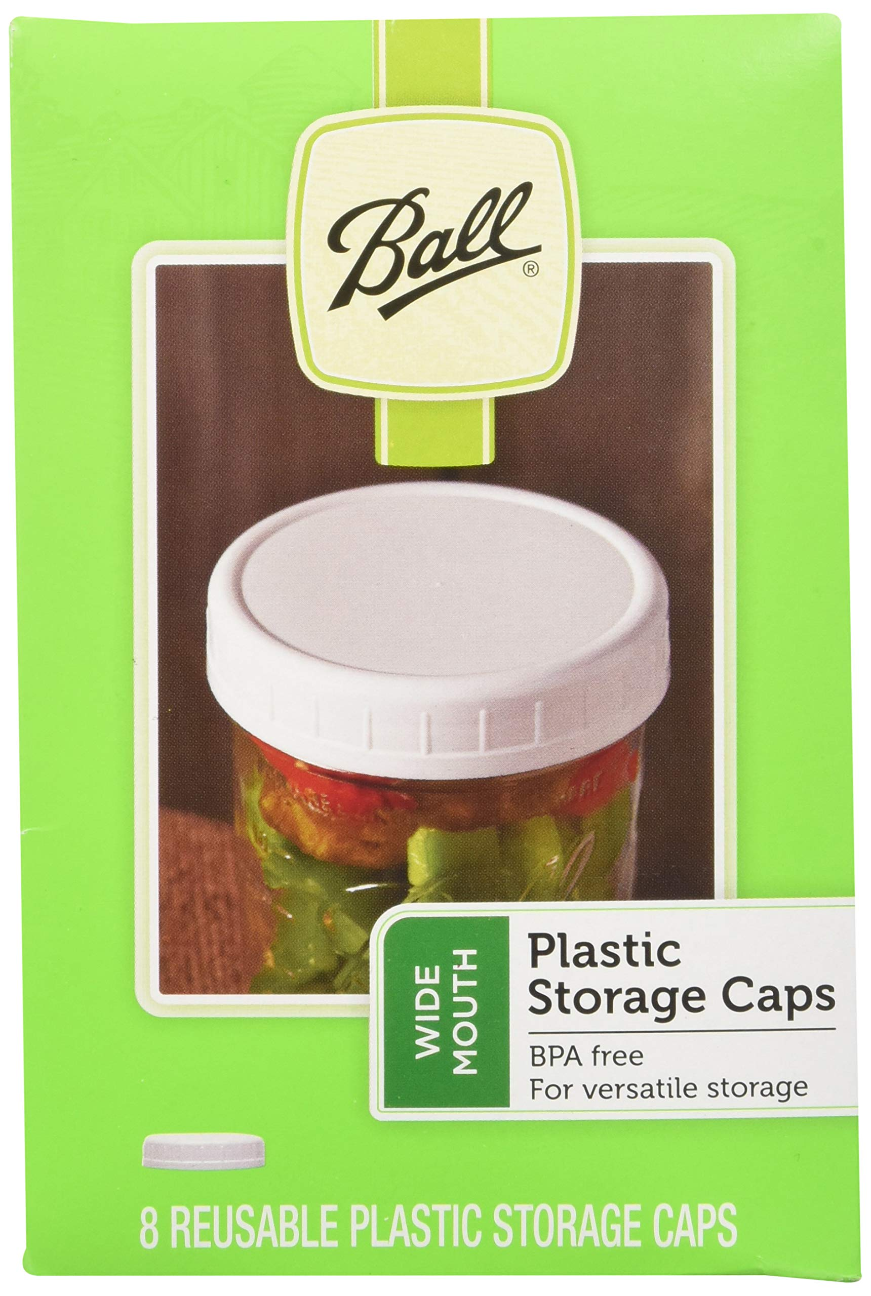 Ball Wide-mouth Plastic Storage Caps, 16-count (one size)
