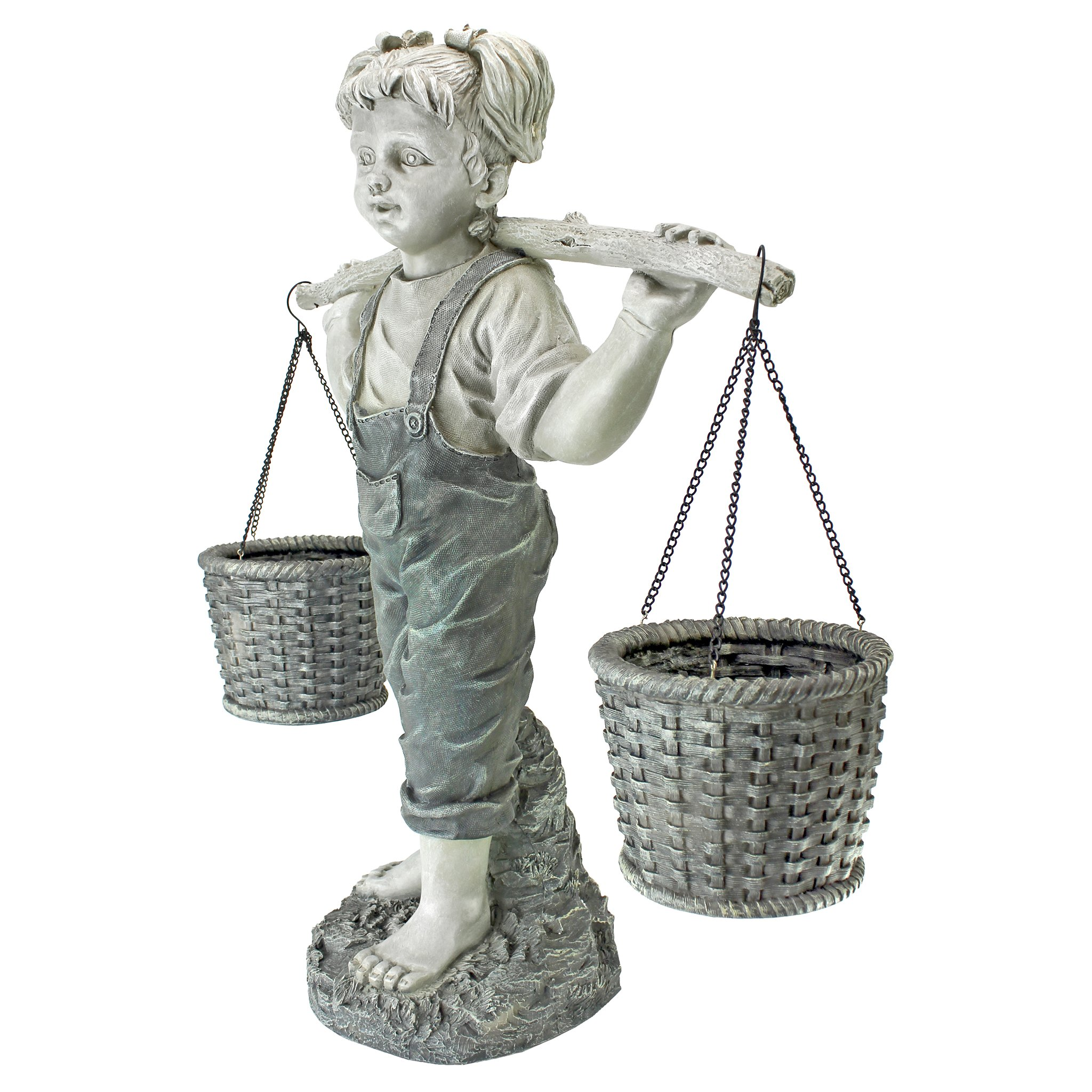 Design Toscano Flowers for Felicity Garden Sculpture in Stone