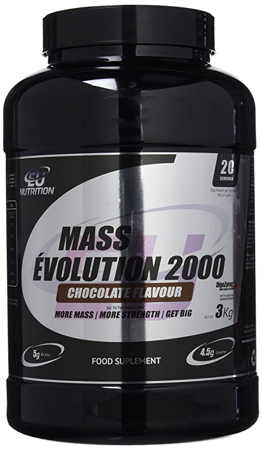 EU Nutrition Mass Évolution 2000 Chocolate - 3000 gr: Amazon ...