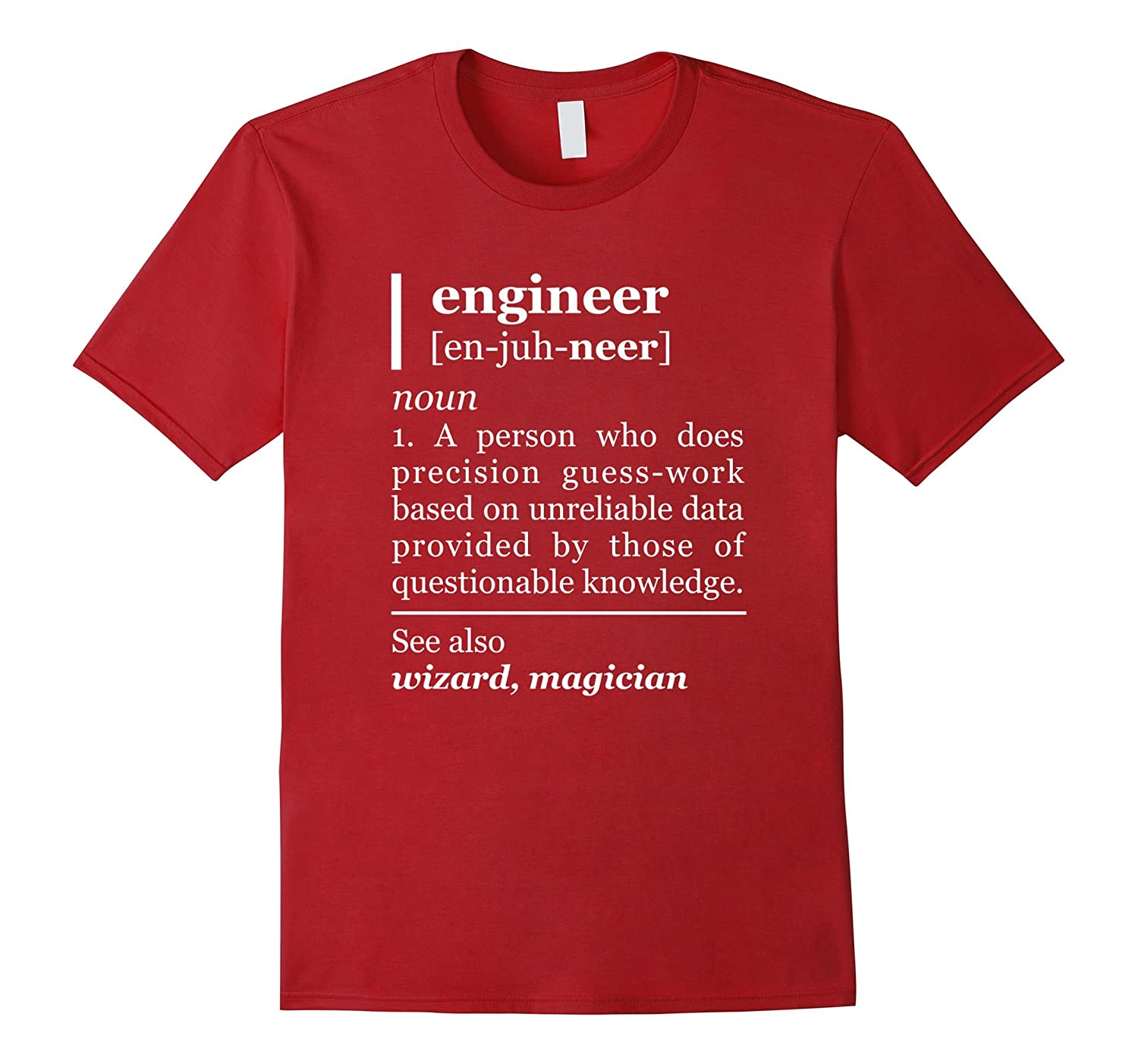 bdb5180d6c Funny Engineer Definition T-Shirt Gift for him Engineering T-ANZ ...