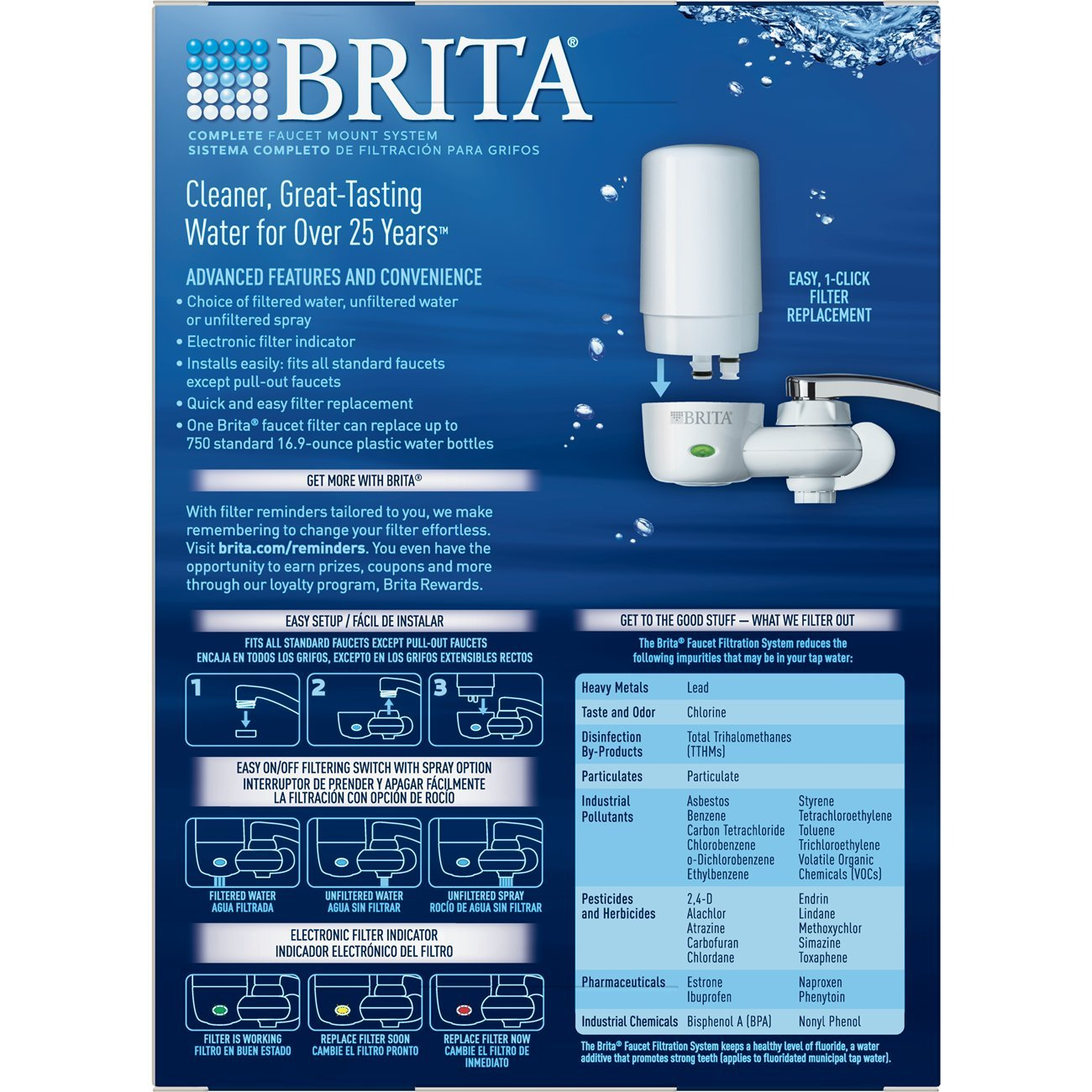 amazon com brita on tap complete water faucet filtration system rh amazon com
