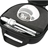 Khanka Hard Case Carrying Travel Bag for Blue Microphones Snowball iCE USB Microphone