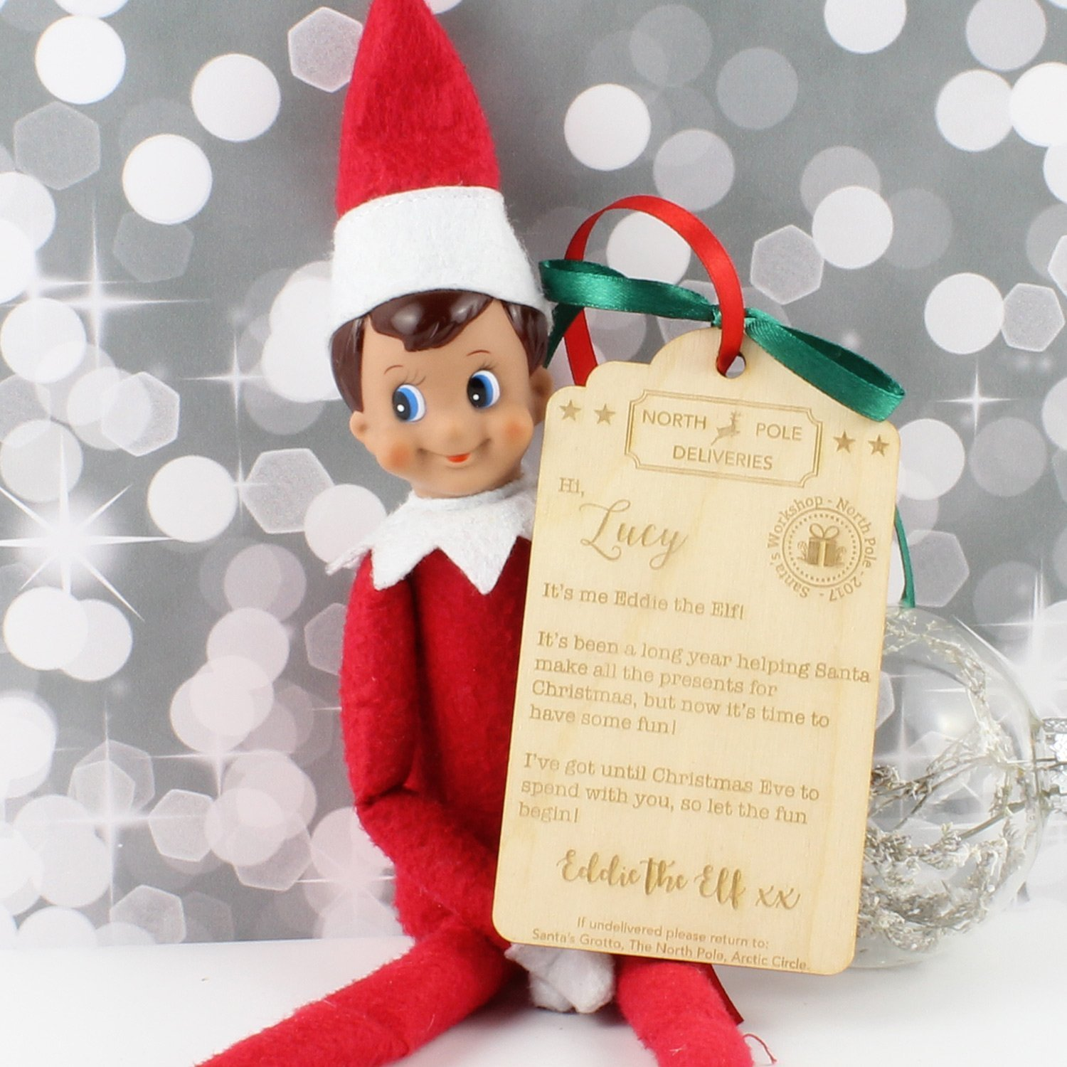 Personalised Christmas Elf Delivery Box Tag Amazon Co Uk
