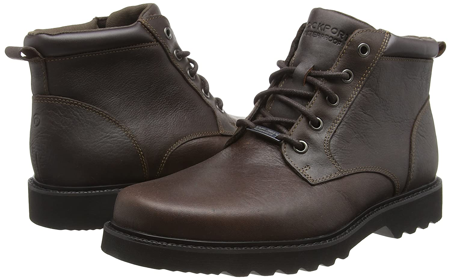 Amazon.com: Rockport Northfield Plain Toe Hombre Botas café ...