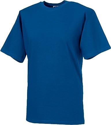 Russell Europe - Camiseta básica/clásica de Manga Corta para Hombre - 100% algodón de Primera Calidad: Amazon.es: Ropa y accesorios