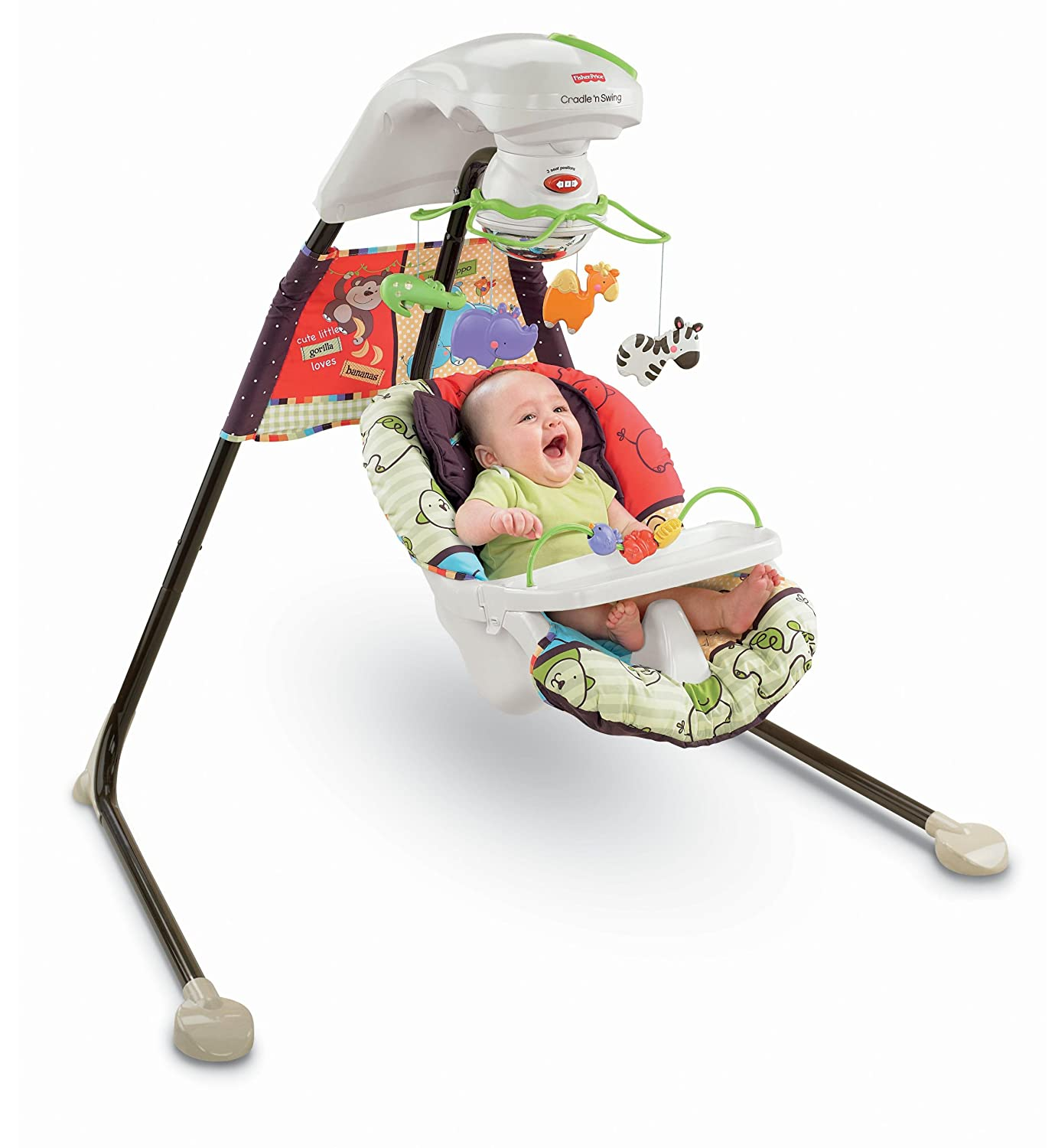 Amazon.com : Fisher-Price Cradle 'N Swing, Luv U Zoo (Discontinued by  Manufacturer) : Stationary Baby Swings : Baby