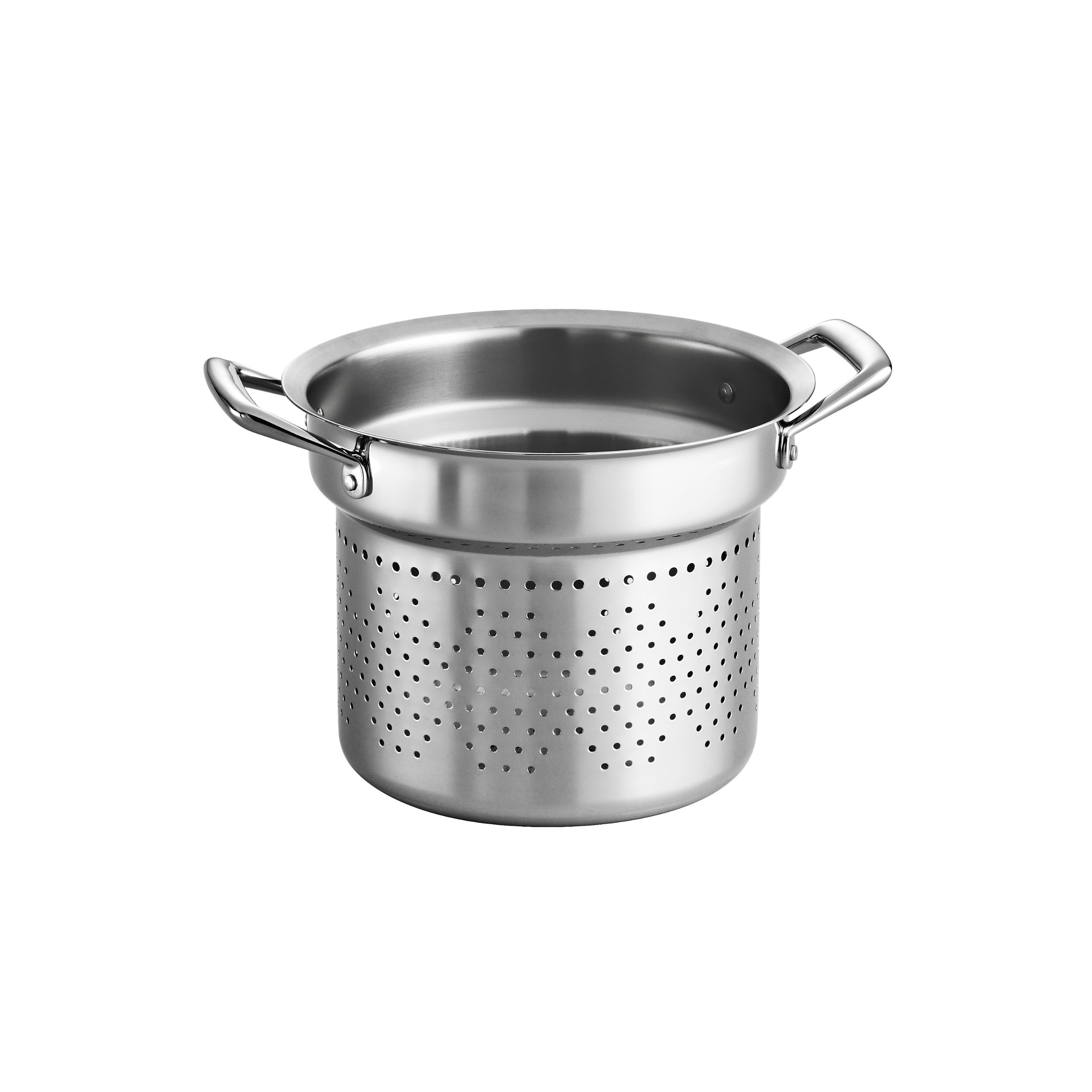 Tramontina 80101/015DS Gourmet Prima Stainless Steel Pasta Insert, 8 Quart, Made in Brazil