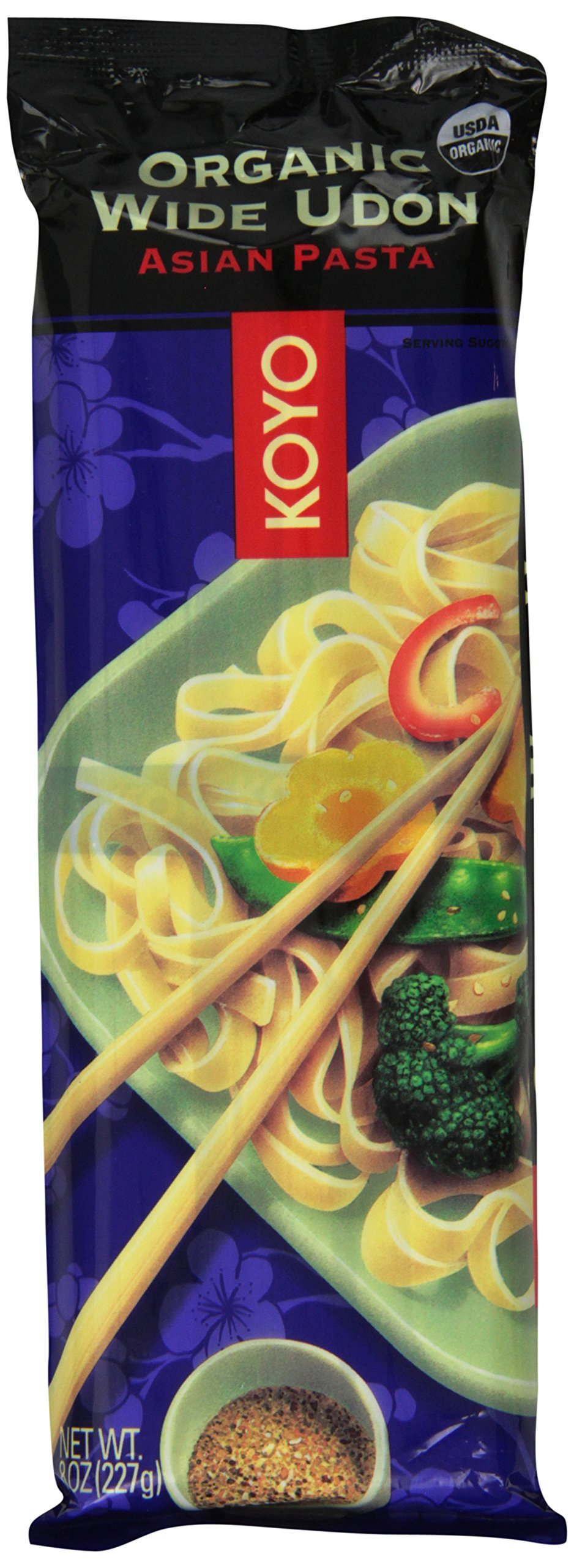 Koyo Organic Wide Udon Noodles, 8 Ounce (Pack of 12) by Koyo
