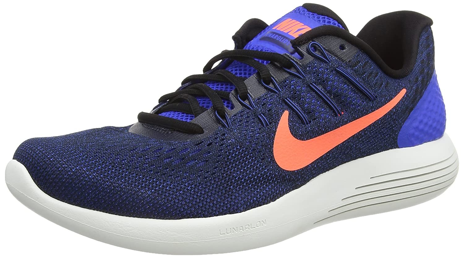 Nike Mens Lunarglide 8, Black / White - Anthracite B01CHGIUBU 11.5 D(M) US|Hyper Cobalt/Loyal Blue/Bright Mango/Black