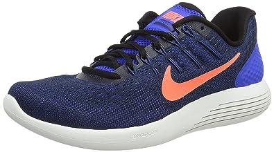 on sale 1be37 0e30a ... get nike lunarglide 8 hyper cobalt black loyal blue bright mango mens  running shoes 881c8 4fc34