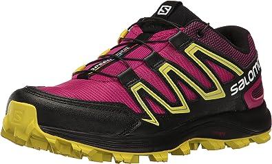 Salomon Speedtrak W, Zapatillas de Trail Running para Mujer, Rojo (Sangria/Sulphur Spring/Black), 36 EU: Amazon.es: Zapatos y complementos