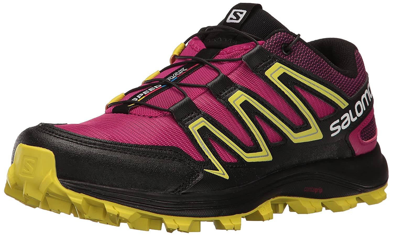Salomon Women's Speedtrak W-W Trail Runner B01HD2P41C 9.5 B(M) US|Sangria/Sulphur Spring/Black