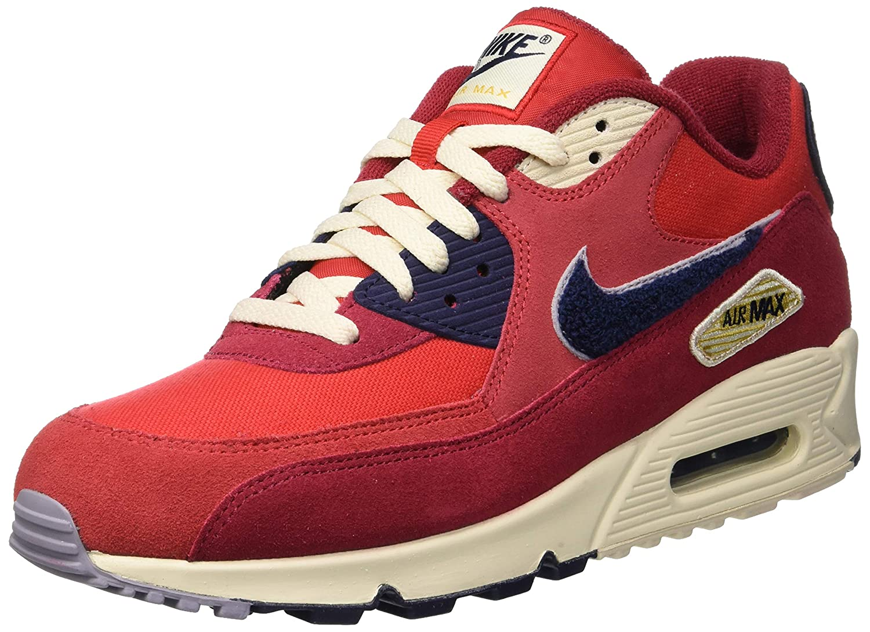 half off 484ef 9bbb1 Amazon.com   NIKE Men s Air Max 90 University Red Provence Purple Nylon  Basketball Shoes 12 D(M) US   Road Running